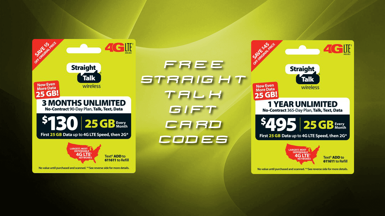 Free Straight Talk Credit Codes | Straight Talk Gift Code